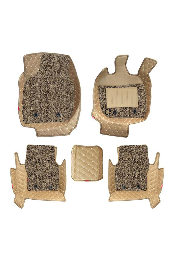 7D Car Floor Mat Beige (Set of 5)