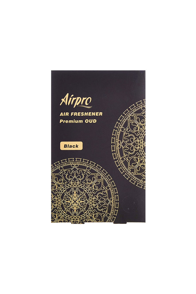 AirPro Hanging OUD Paper Black Car Perfume
