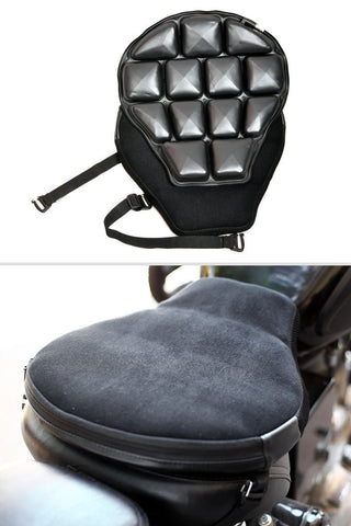 Motorcycle Air Seat Pad Black