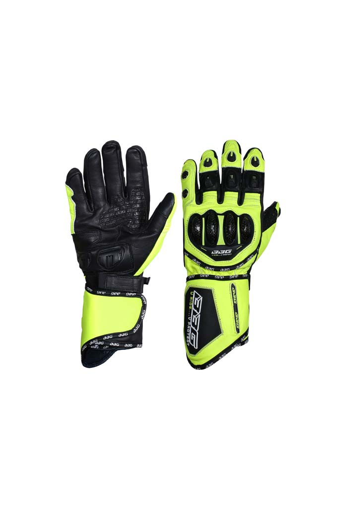 Biking Brotherhood Racer Gloves - Fluroscent