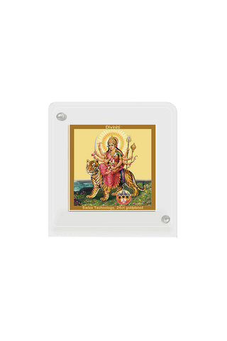 Diviniti 24k Gold Plated Car Dashboard Frame Durga (ACF 1B)