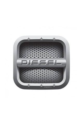 Diesel Car Fuel Badge - Square