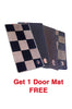 Cord Carpet Car Floor Mat Black (Set of 7)