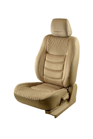 Veloba Crescent Velvet Fabric Car Seat Cover Beige