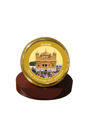 Diviniti 24k Gold Plated Car Dashboard Frame Golden Temple (MCF 1CR)