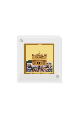 Diviniti 24k Gold Plated Car Dashboard Frame Golden Temple (ACF 1B)