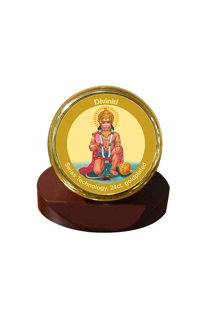 Diviniti 24k Gold Plated Car Dashboard Frame Hanuman (MCF 1CR)