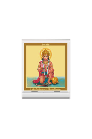 Diviniti 24k Gold Plated Car Dashboard Frame Hanuman (ACF 3)