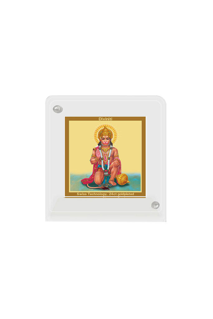 Diviniti 24k Gold Plated Car Dashboard Frame Hanuman (ACF 1B)