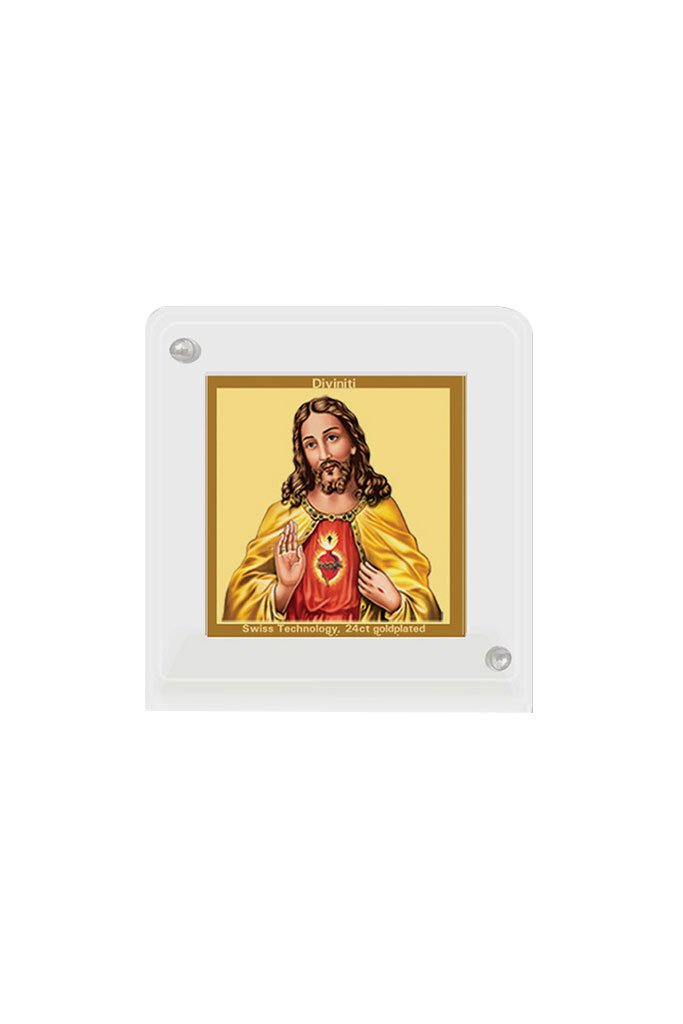 Diviniti 24k Gold Plated Car Dashboard Frame Jesus (ACF 1B)