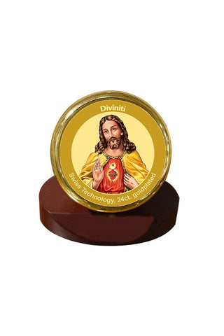 Diviniti 24k Gold Plated Car Dashboard Frame Jesus (MCF 1CR)