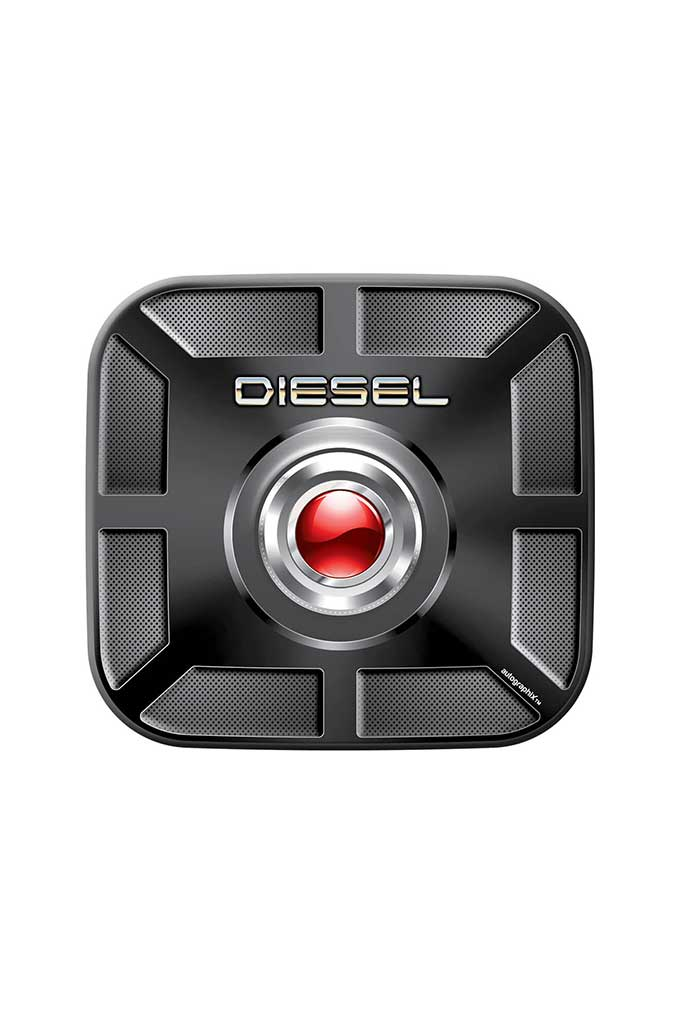 Joy Diesel Square Car Fuel Badge