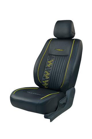 Trend Knight Art Leather Car Seat Cover Black and Yellow