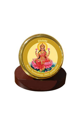 Diviniti 24k Gold Plated Car Dashboard Frame Lakshmi (MCF 1CR)