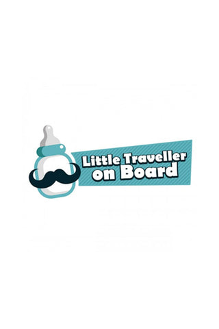 Little Traveller on Board Baby Safety Car Graphic Decals