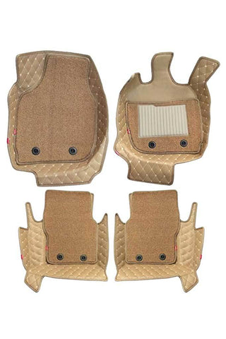 5D Car Floor Mat Beige (Set of 4)