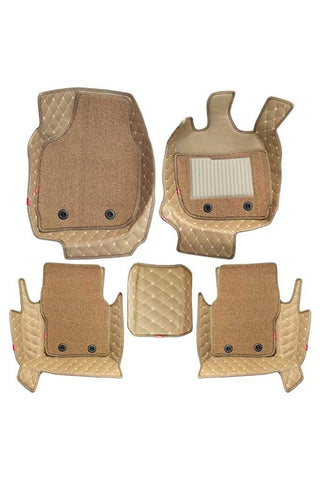5D Car Floor Mat Beige (Set of 5)