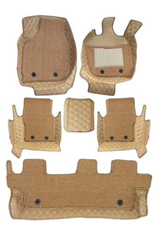 5D Car Floor Mat Beige (Set of 6)