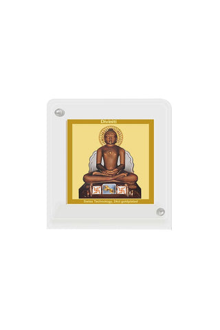 Diviniti 24k Gold Plated Car Dashboard Frame Mahavir (ACF 1B)