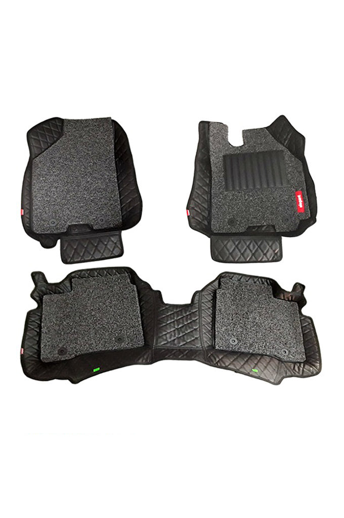 7D Car Floor Mat Black (Set of 3)