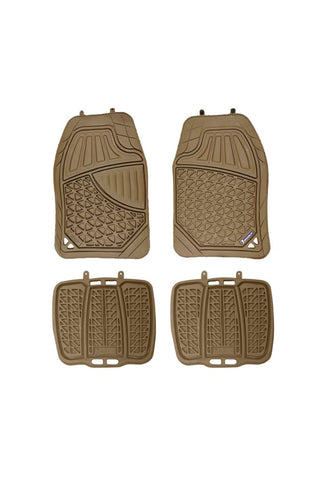 Michelin Heavy Duty Rubber Car Mat Tan (Set of 4)