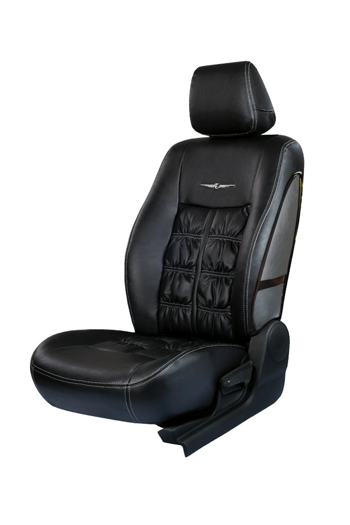 Nappa Grande Art Leather Airbag Friendly Car Seat Cover Black