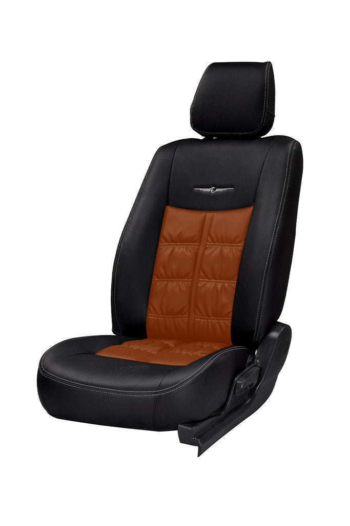Nappa Grande Duo Art Leather Car Seat Cover Black and Tan