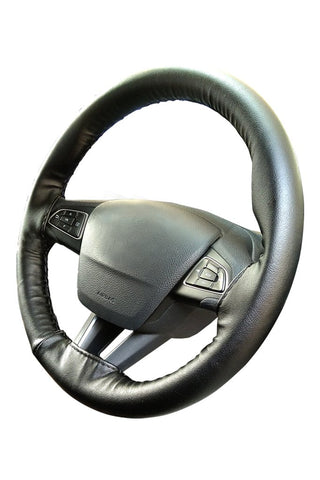 Nappa Art Leather Car Steering Wheel Cover Black