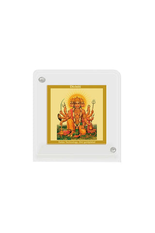 Diviniti 24k Gold Plated Car Dashboard Frame Panchmukhi Hanuman (ACF 1B)