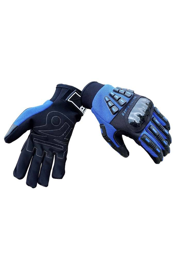 Biking Brotherhood Rider Gloves - Blue