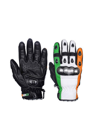 Biking Brotherhood Indian Gloves Black
