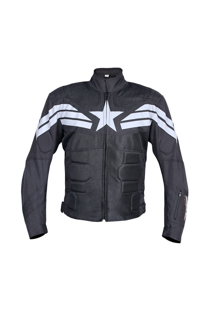 Biking Brotherhood Captain Jacket Black and White