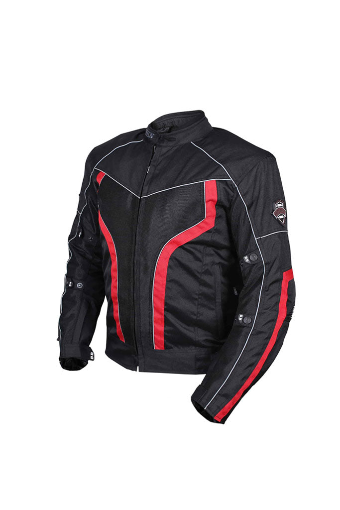 Biking Brotherhood Xplorer Jacket Black and Red