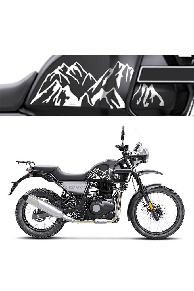 Royal Enfield Himalayan Tank Mountain Design Premium Vinyl Decal