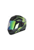 Steelbird Air R2K Night Vision Full Face Helmet-Matt Black With Green