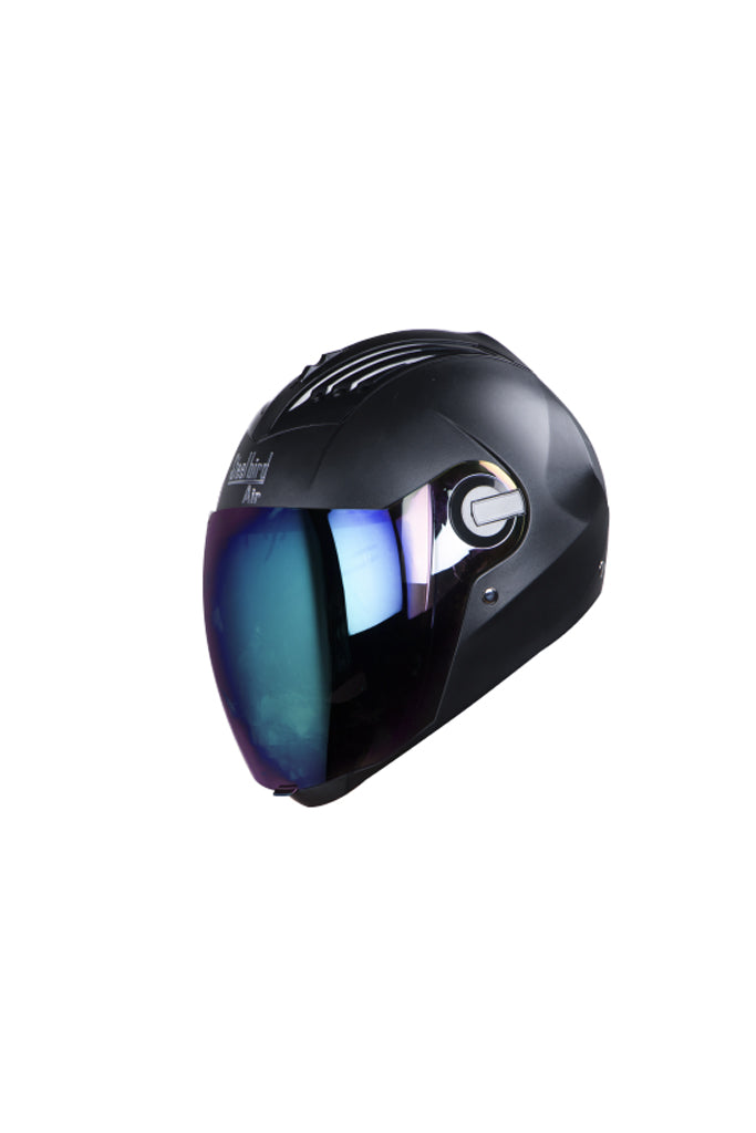 Steelbird Air Dashing Full Face Helmet-Black I.Blue Visor