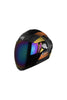 Steelbird Air Robot Full Face Helmet-Matt Finish Orange With Yellow