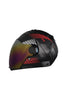 Steelbird Air Robot Full Face Helmet-Glossy Finish Red With Silver