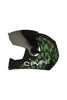 Steelbird Air Seven Full Face Helmet-Matt Black With Green