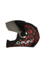 Steelbird Air Seven Full Face Helmet-Matt Black With Red