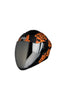 Steelbird Air Strength Full Face Helmet-Matt Black With Orange