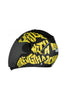 Steelbird Air Strength Full Face Helmet-Matt Black With Yellow