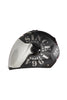 Steelbird Air Tank Full Face Helmet-Matt Black With Grey Silver Visor