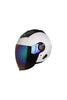 Steelbird Air Dashing Open Face Helmet-White With Irridium Blue Visor