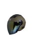 Steelbird Air Open Face Helmet-Matt Desert Storm With Golden Visor