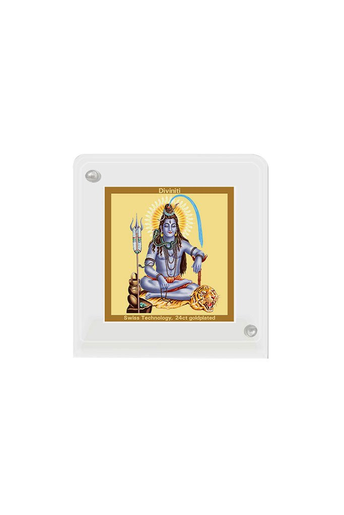 Diviniti 24k Gold Plated Car Dashboard Frame Shiva (ACF 1B)