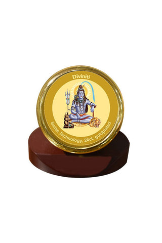Diviniti 24k Gold Plated Car Dashboard Frame Shiva (MCF 1CR)