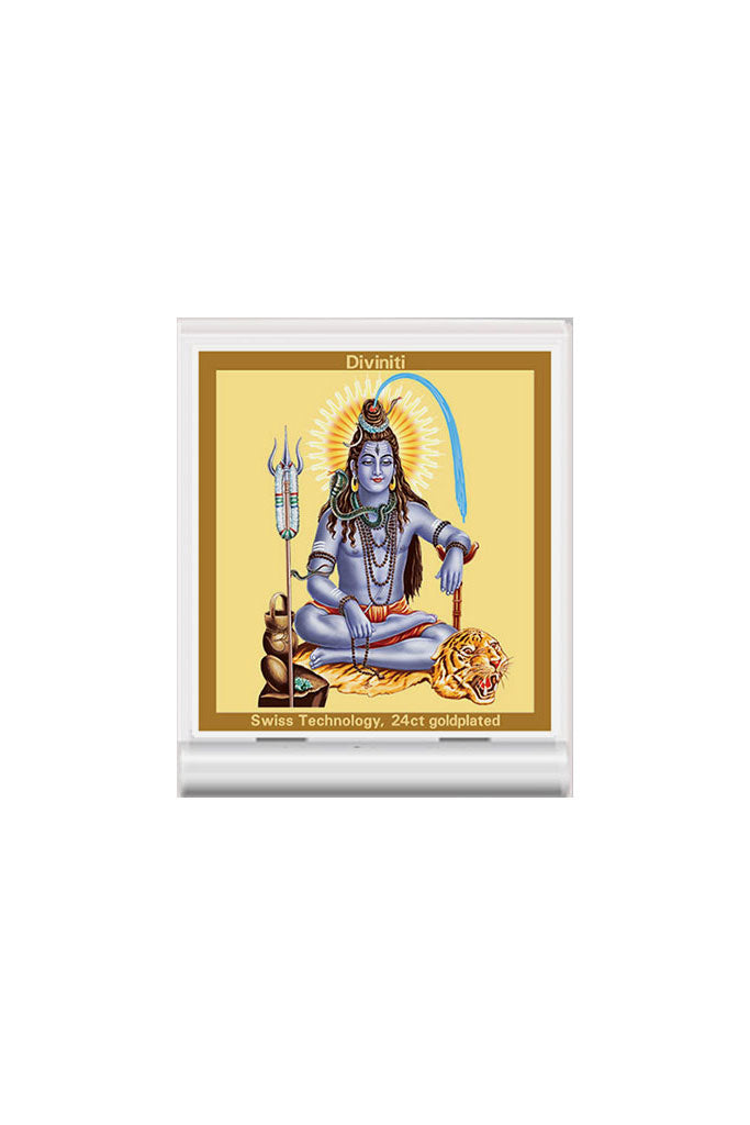 Diviniti 24k Gold Plated Car Dashboard Frame Shiva (ACF 3)
