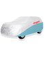 Elegant Car Body Cover WR White And Blue for MUV Cars