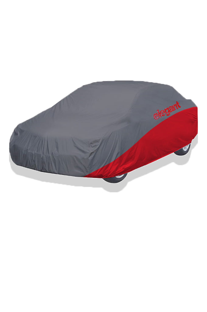 Elegant Car Body Cover WR Grey And Red for Sedan Cars